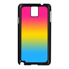 Pink Orange Green Blue Samsung Galaxy Note 3 N9005 Case (black) by AnjaniArt