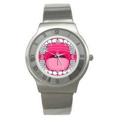 Original Big Mouth Stainless Steel Watch by AnjaniArt