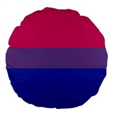Pink Purple Blue Flag Large 18  Premium Flano Round Cushions by AnjaniArt