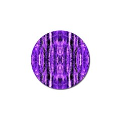 Bright Purple Rose Black Pattern Golf Ball Marker by Costasonlineshop