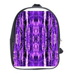 Bright Purple Rose Black Pattern School Bags (xl)  by Costasonlineshop