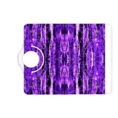 Bright Purple Rose Black Pattern Kindle Fire Hd (2013) Flip 360 Case by Costasonlineshop