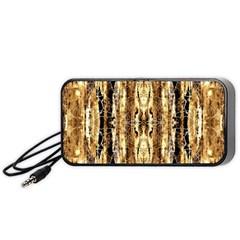 Beige Brown Back Wood Design Portable Speaker (black)  by Costasonlineshop