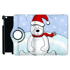 Polar Bear Apple Ipad 2 Flip 360 Case by Valentinaart