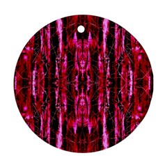 Pink Burgundy Traditional Pattern Round Ornament (two Sides)  by Costasonlineshop