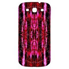 Pink Burgundy Traditional Pattern Samsung Galaxy S3 S Iii Classic Hardshell Back Case by Costasonlineshop