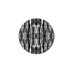 Black White Taditional Pattern  Golf Ball Marker (10 Pack) by Costasonlineshop