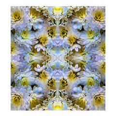 Blue Yellow Flower Girly Pattern, Shower Curtain 66  X 72  (large)  by Costasonlineshop