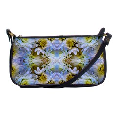 Blue Yellow Flower Girly Pattern, Shoulder Clutch Bags by Costasonlineshop
