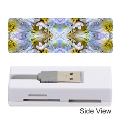 Blue Yellow Flower Girly Pattern, Memory Card Reader (stick)  by Costasonlineshop