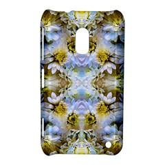 Blue Yellow Flower Girly Pattern, Nokia Lumia 620 by Costasonlineshop