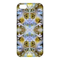 Blue Yellow Flower Girly Pattern, Apple Iphone 5c Hardshell Case by Costasonlineshop