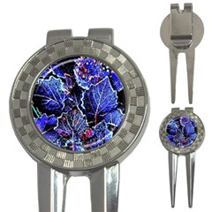Blue Leaves In Morning Dew 3 In 1 Golf Divots by Costasonlineshop