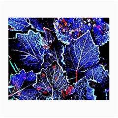 Blue Leaves In Morning Dew Small Glasses Cloth by Costasonlineshop