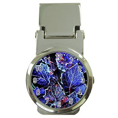 Blue Leaves In Morning Dew Money Clip Watches by Costasonlineshop