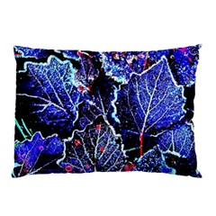 Blue Leaves In Morning Dew Pillow Case (two Sides) by Costasonlineshop