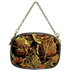 Leaves In Morning Dew,yellow Brown,red, Chain Purses (one Side)  by Costasonlineshop
