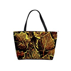Leaves In Morning Dew,yellow Brown,red, Shoulder Handbags by Costasonlineshop