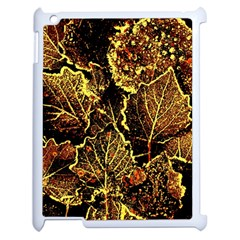 Leaves In Morning Dew,yellow Brown,red, Apple Ipad 2 Case (white) by Costasonlineshop