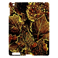 Leaves In Morning Dew,yellow Brown,red, Apple Ipad 3/4 Hardshell Case by Costasonlineshop
