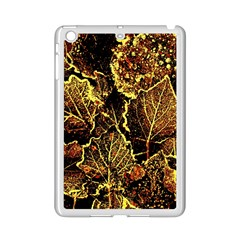 Leaves In Morning Dew,yellow Brown,red, Ipad Mini 2 Enamel Coated Cases by Costasonlineshop