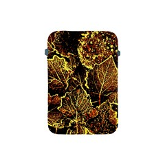 Leaves In Morning Dew,yellow Brown,red, Apple Ipad Mini Protective Soft Cases by Costasonlineshop