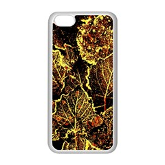 Leaves In Morning Dew,yellow Brown,red, Apple Iphone 5c Seamless Case (white) by Costasonlineshop