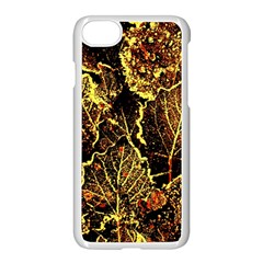 Leaves In Morning Dew,yellow Brown,red, Apple Iphone 7 Seamless Case (white) by Costasonlineshop