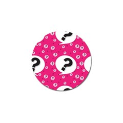 Question Mark Red Sign Golf Ball Marker (4 Pack) by AnjaniArt