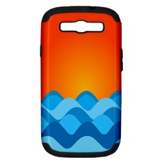 Water Orange Samsung Galaxy S Iii Hardshell Case (pc+silicone) by AnjaniArt