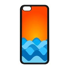 Water Orange Apple Iphone 5c Seamless Case (black) by AnjaniArt