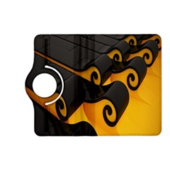Tsunami Roll Sea Wave Kindle Fire Hd (2013) Flip 360 Case by AnjaniArt
