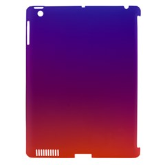 Purple Orange Blue Apple Ipad 3/4 Hardshell Case (compatible With Smart Cover) by AnjaniArt