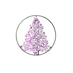 Elegant Starry Christmas Pink Metallic Look Hat Clip Ball Marker (10 Pack) by yoursparklingshop