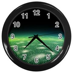 Alien Orbit Wall Clocks (black) by Onesevenart