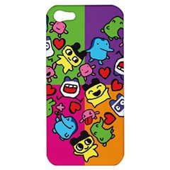 Cartoon Pattern Apple Iphone 5 Hardshell Case by Onesevenart