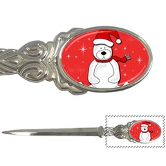 Polar bear - red Letter Openers by Valentinaart
