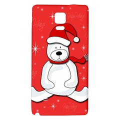 Polar Bear   Red Galaxy Note 4 Back Case by Valentinaart