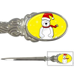 Polar bear - yellow Letter Openers by Valentinaart