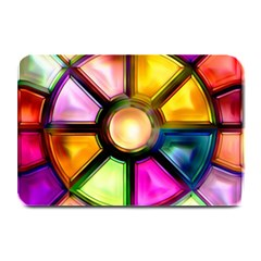 Glass Colorful Stained Glass Plate Mats by Onesevenart