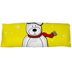 Polar Bear   Yellow Body Pillow Case (dakimakura) by Valentinaart