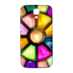 Glass Colorful Stained Glass Samsung Galaxy S4 I9500/i9505  Hardshell Back Case by Onesevenart
