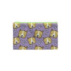 Corgi Pattern Cosmetic Bag (xs) by Onesevenart