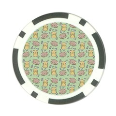 Hamster Pattern Poker Chip Card Guards (10 pack)  by Onesevenart
