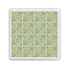 Hamster Pattern Memory Card Reader (square)  by Onesevenart
