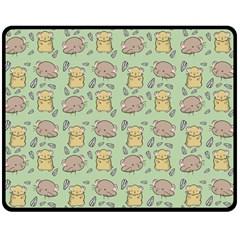Hamster Pattern Double Sided Fleece Blanket (medium)