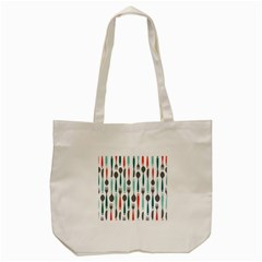 Spoon Fork Knife Pattern Tote Bag (cream) by Onesevenart