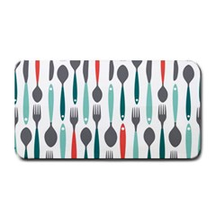 Spoon Fork Knife Pattern Medium Bar Mats by Onesevenart