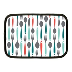 Spoon Fork Knife Pattern Netbook Case (medium)  by Onesevenart