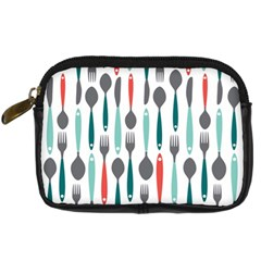 Spoon Fork Knife Pattern Digital Camera Cases by Onesevenart